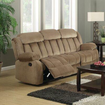Gibsonia Reclining Sofa Upholstery: Mocha