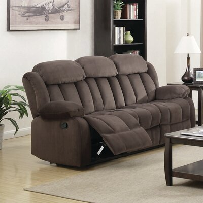 Gibsonia Reclining Sofa Upholstery: Brown