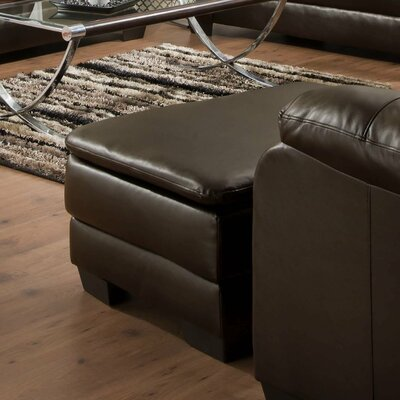 MacDowell Ottoman Upholstery: Soho Espresso Bonded Leather Match