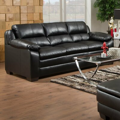 Simmons Upholstery MacDowell Sofa Upholstery: Soho Onyx Black Bonded Leather Match