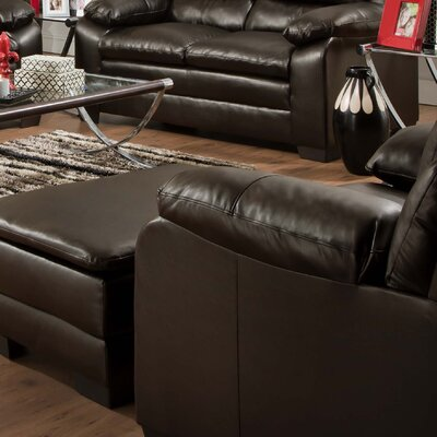 Simmons Upholstery MacDowell Bonded Leather Arm Chair Seat Color: Soho Espresso Bonded Leather Match