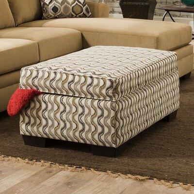 Simmons Upholstery Wren Undulate Storage Ottoman