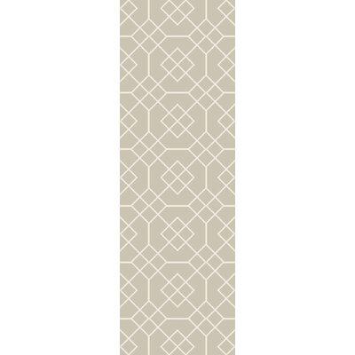 Packard Sea Foam/Ivory Geometric Rug Rug Size: Runner 26 x 8