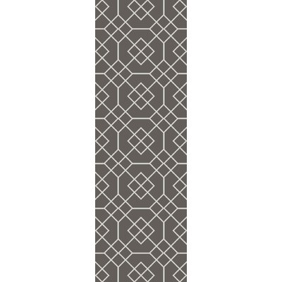 Packard Charcoal Geometric Rug Rug Size: Runner 26 x 8