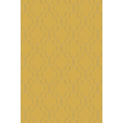 Packard Hand Woven Wool Gold/Gray Area Rug Rug Size: Rectangle 2 x 3