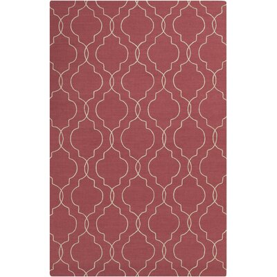 Packard Hand Woven Wool Red Area Rug Rug Size: Rectangle 8 x 10