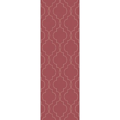 Packard Hand Woven Wool Red Area Rug Rug Size: Runner 26 x 8