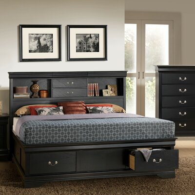 Guffey Storage Panel Bed Size: Queen, Color: Black