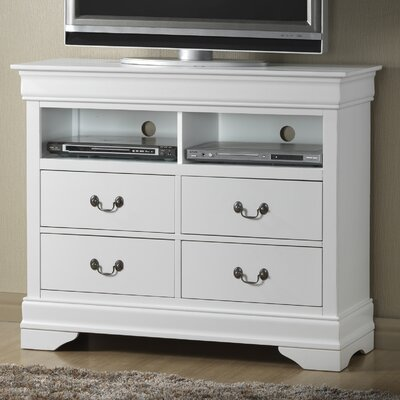 Caldello 4 Drawer Media Chest Color: White