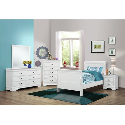 Caldello Sleigh Bed Size: Twin