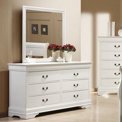 Caldello 6 Drawer Dresser with Mirror