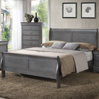 Caldello King Sleigh Bed Finish: Ash Gray
