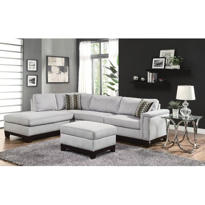 Darby Home Co DBYH3594 Carson Reversible Sectional