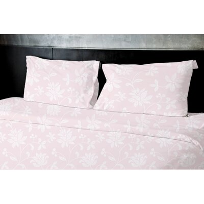 Gore Floral Duvet Set Size: Twin, Color: Pink