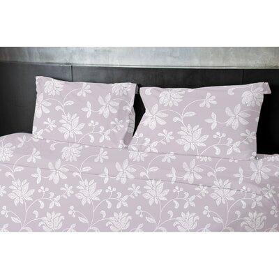 Gore Floral Duvet Set Size: Queen, Color: Purple