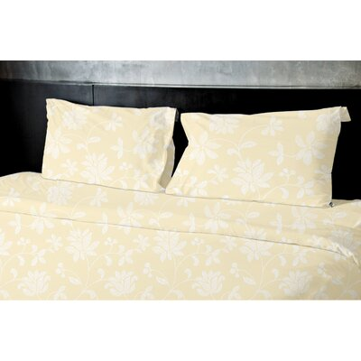 Gore Floral Duvet Set Size: Queen, Color: Yellow
