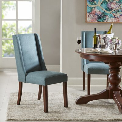 Granderson Wing Side Chair Upholstery: Blue