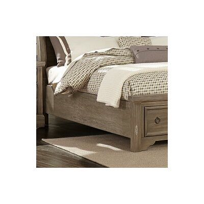 Brookhill Storage Bed Side Rails Finish: Rustic Gray, Size: King