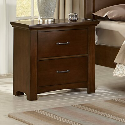 Bertram 2 Drawer Nightstand Color: Dark Cherry