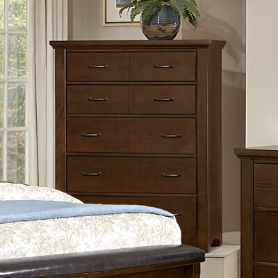 Bertram 5 Drawer Chest Finish: Dark Cherry