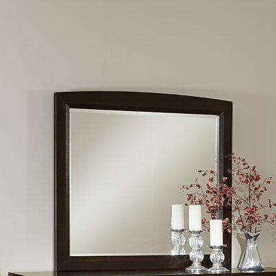 Bertram Dark Cherry Landscape Mirror Finish: Merlot