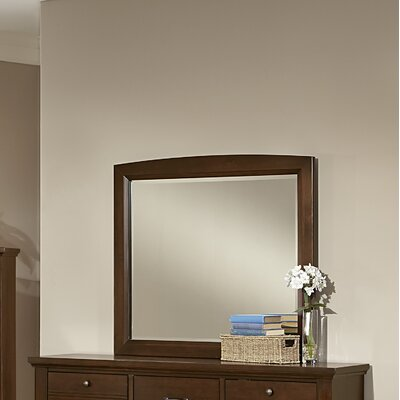 Bertram Dark Cherry Landscape Mirror Finish: Dark Cherry