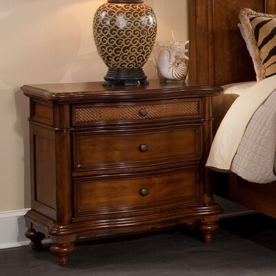 Bernadine 3 Drawer Nightstand