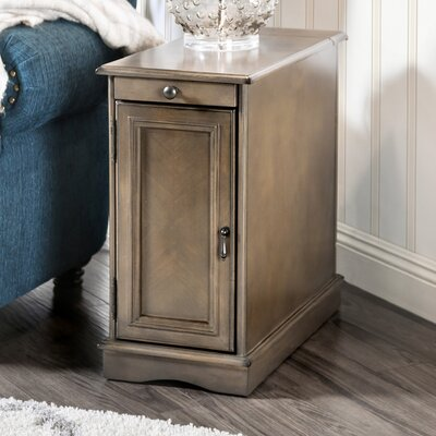 Kipling End Table With Storage Color: Gray
