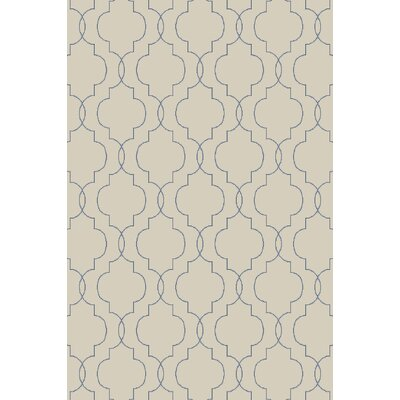 Freudenburg Beige/Cobalt Geometric Rug Rug Size: Rectangle 2' x 3'