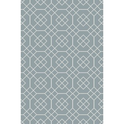 Freudenburg Teal Geometric Rug Rug Size: Rectangle 2' x 3'