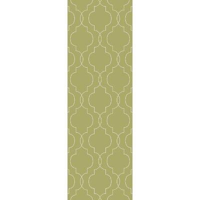 Freudenburg Hand Woven Wool Lime/Seafoam Area Rug Rug Size: Runner 2'6