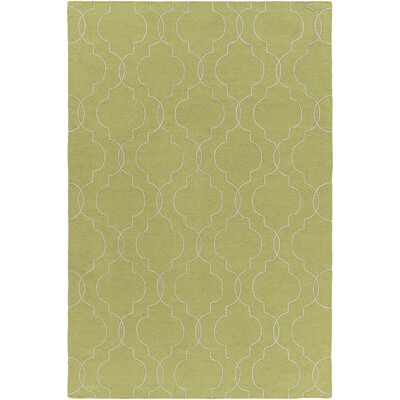 Freudenburg Hand Woven Wool Lime/Seafoam Area Rug Rug Size: Rectangle 8 x 10