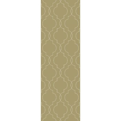 Freudenburg Hand Woven Wool Olive Area Rug Rug Size: Runner 26 x 8