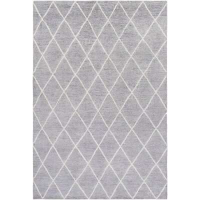Pearl Hand-Knotted Ivory Area Rug Rug size: Rectangle 4 x 6