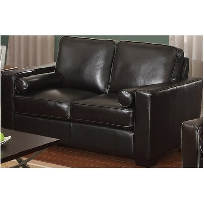 Berrywood Leather Loveseat