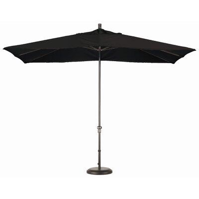 Chase 8 x 11 Rectangle Market Umbrella Fabric: Sunbrella A Black
