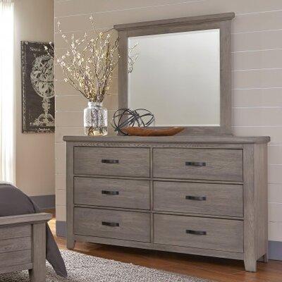 Zendell 6 Drawer Dresser with Mirror