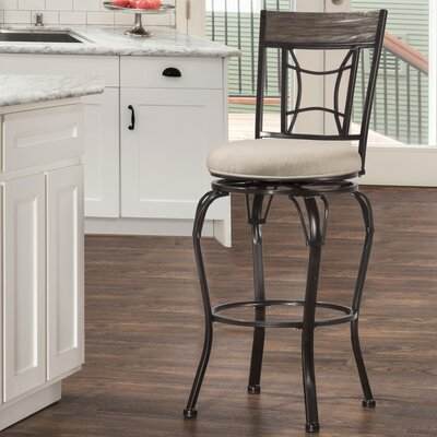Dewsbury 26 Swivel Indoor/Outdoor Patio Bar Stool