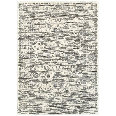 Driscoll Light Gray Indoor Area Rug Rug Size: 9 x 12