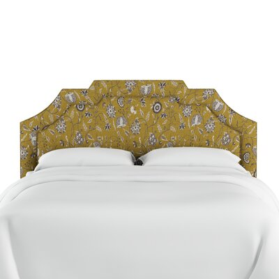 Dwyer Linen Upholstered Panel Headboard Size: King, Upholstery: Yellow