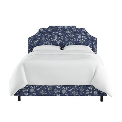 Edmondson Linen Upholstered Panel Bed Size: Full, Color: Blue