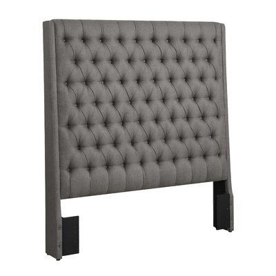 Peaslee Upholstered Panel Headboard Size: Queen, Upholstery: Gray