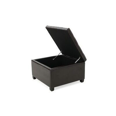 Avis Faux Leather Storage Ottoman
