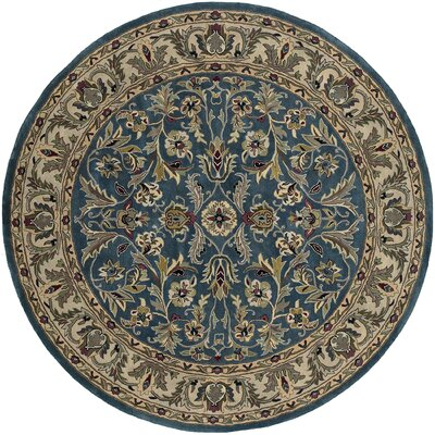 Fogleman William Garden Blue Area Rug Rug Size: Round 79