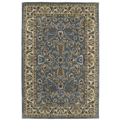 Fogleman William Garden Blue Area Rug Rug Size: 36 x 53