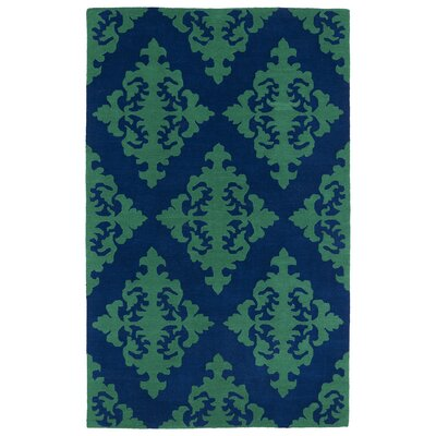 Slovan Navy Area Rug Rug Size: Rectangle 2 x 3