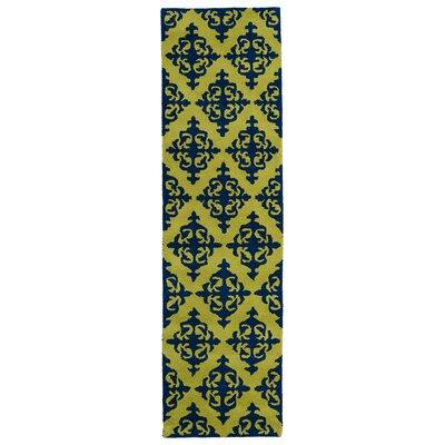 Slovan Wasabi Yellow/Blue Area Rug Rug Size: Runner 23 x 8