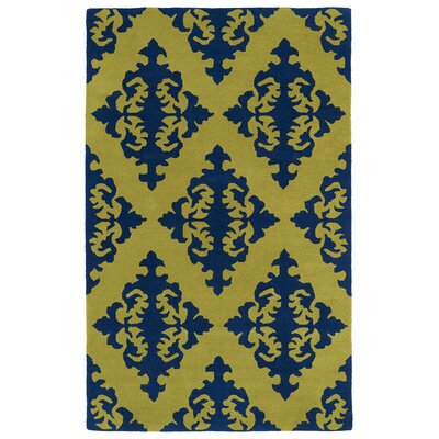 Slovan Wasabi Yellow/Blue Area Rug Rug Size: Rectangle 2 x 3