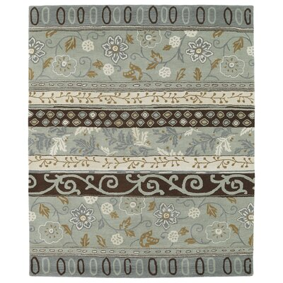 Ginther Grey Area Rug Rug Size: Rectangle 76 x 9