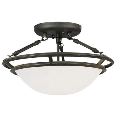 Gearheart 3-Light Semi-Flush Mount Finish: Bronze